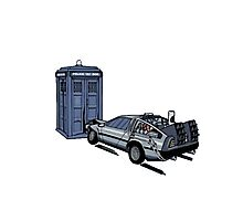 Dr Who Vs Back To the Future Photographic Print