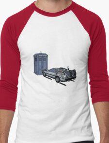 Dr Who Vs Back To the Future Men's Baseball ¾ T-Shirt