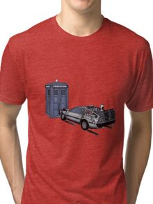 Dr Who Vs Back To the Future Tri-blend T-Shirt
