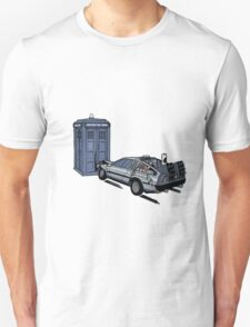 Dr Who Vs Back To the Future T-Shirt