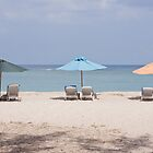 reclining chairs and beach umbrellas. by rajeshbac