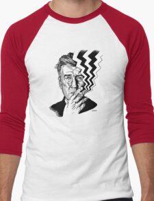 David Lynch smoking Men's Baseball ¾ T-Shirt