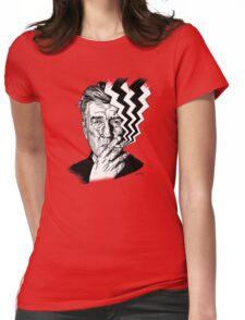 David Lynch smoking Womens Fitted T-Shirt