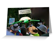 turtles against climate change Greeting Card