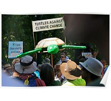 turtles against climate change Poster