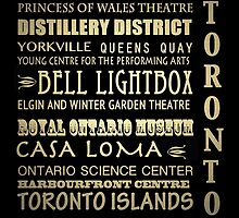 Toronto Canada Famous Landmarks by Patricia Lintner