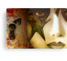 Secrets of My Soul You Will Never Understand...angry red, passion blue, but mostly shades of green Metal Print
