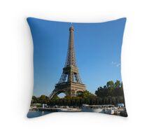 Eifel from the bateau mouche Throw Pillow