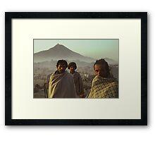 Three Cameleers Pushkar India Framed Print