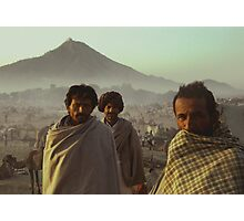 Three Cameleers Pushkar India Photographic Print