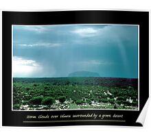 green Uluru Poster