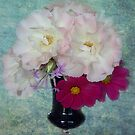 Roses & Cosmos From My Garden by Eve Parry