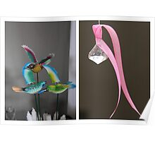 Decor:  Birds and ribbon Poster