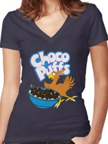 Coo Coo for Choco Puffs- Final Fantasy Spoof  Women's Fitted V-Neck T-Shirt