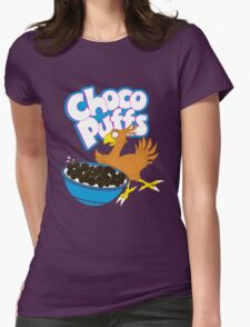 Coo Coo for Choco Puffs- Final Fantasy Spoof  Womens Fitted T-Shirt