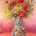 AUTUMN FLOWERS INTO A TURKISH VASE by ANA MARIA EDULESCU