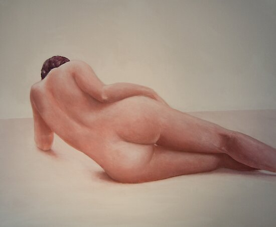 Nude model study 2 by Jos van de venne
