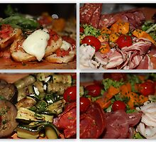 Delicious Italian Antipasti Collage by Christine Markram