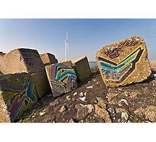 Art on concrete blocks Photographic Print