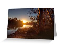 Sunset on the Banks - The River Murray Above Renmark Greeting Card