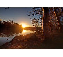 Sunset on the Banks - The River Murray Above Renmark Photographic Print