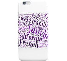 Wine Word Cloud iPhone Case/Skin