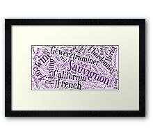 Wine Word Cloud Framed Print