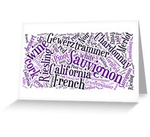 Wine Word Cloud Greeting Card