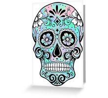 Sugar Skull Hologram Greeting Card