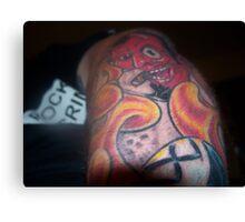 Flaming Arm Canvas Print