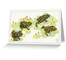 Corroboree frogs (Pseudophryne corroboree) Greeting Card