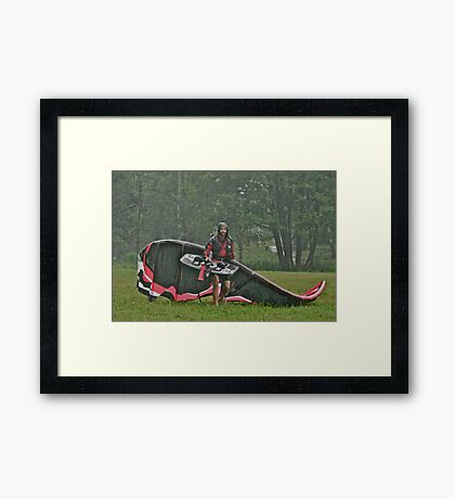 Man In the Rain . Handsome  Viking kitesurfer in action . by Brown Sugar. F* Views (410) favorited by (1) thank you very much ! Framed Print