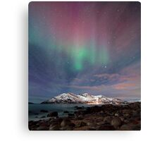 Aurora Borealis at the beach Canvas Print
