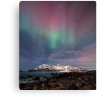 Aurora Borealis at the beach Canvas Print