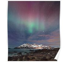 Aurora Borealis at the beach Poster