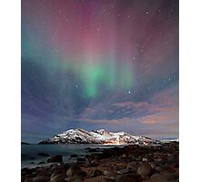 Aurora Borealis at the beach Photographic Print