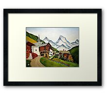 Small town by rafi talby Framed Print
