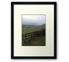 Saddleworth Fence Framed Print