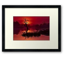 """Merlot Dawn"" Framed Print"