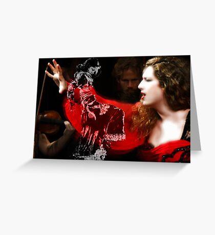 Cantaora & bailaora de Flamenco Greeting Card