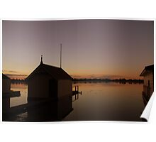 boat sheds,wenderee Poster
