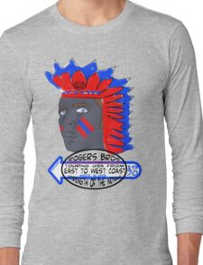 usa indians tshirt by rogers bros co Long Sleeve T-Shirt