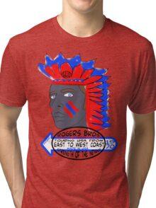 usa indians tshirt by rogers bros co Tri-blend T-Shirt