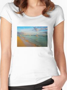 Playa del Carmen Beach, MEXICO Women's Fitted Scoop T-Shirt
