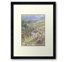 Stream through the countryside Framed Print