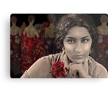 Estrella Morente with a red carnation Metal Print