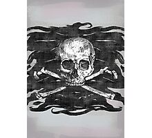 Old Crossbones Skull Pirate Flag Photographic Print
