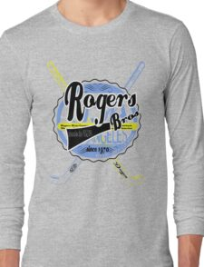 usa hockey tshirt by rogers bros co Long Sleeve T-Shirt