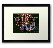 DFWYB - OTRA Baltimore Framed Print