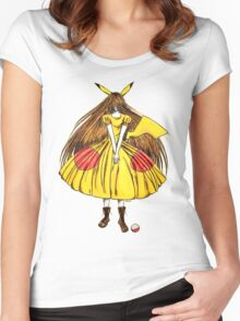 Lady Pikachu Women's Fitted Scoop T-Shirt